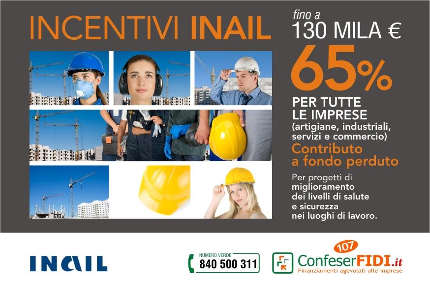 Incentivi Inail: fino a 130 mila euro con il 65% a fondo perduto