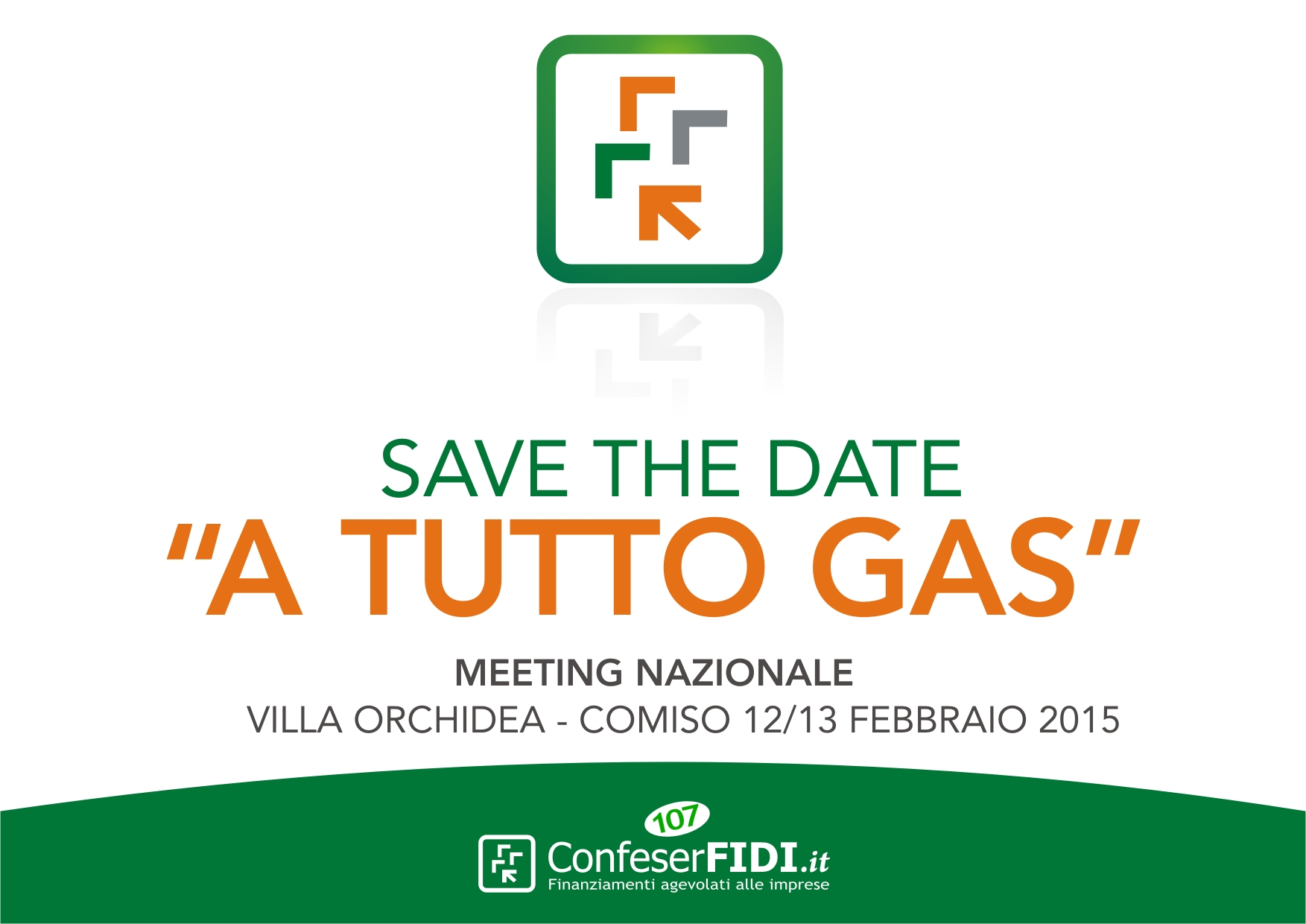 """CONFESERFIDI MEETING NAZIONALE - SAVE THE DATE """"A TUTTO GAS"""""""