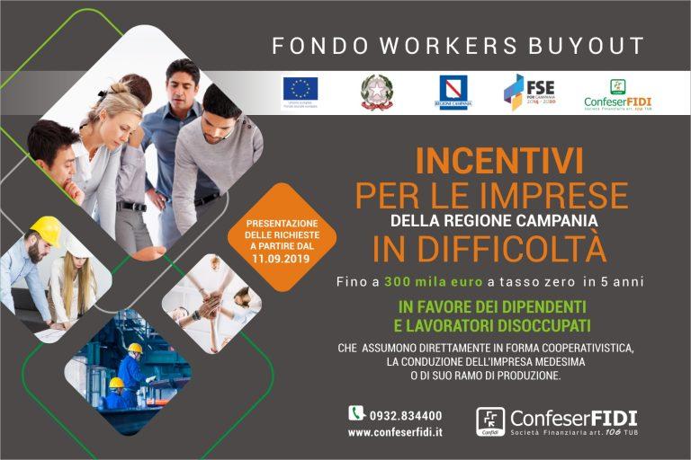 Fondo Workers BuyOut Campania - Dall'11 settembre si aprirà la quarta finestra temporale per la selezione delle iniziative da finanziare.
