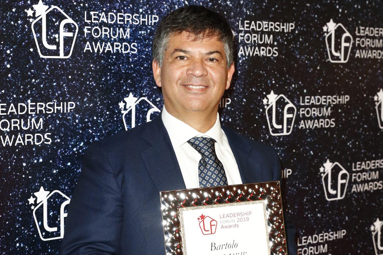L'AD Confeserfidi Bartolo Mililli premiato al 13° Leadership Forum