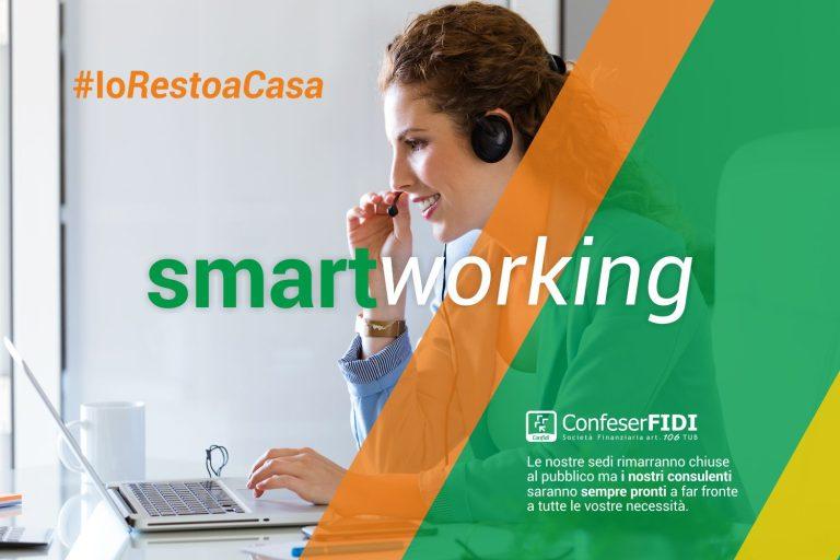 """EMERGENZA DA CO.VI.D 19: CONFESERFIDI AVVIA LA MODALITA' """"SMART WORKING"""""""