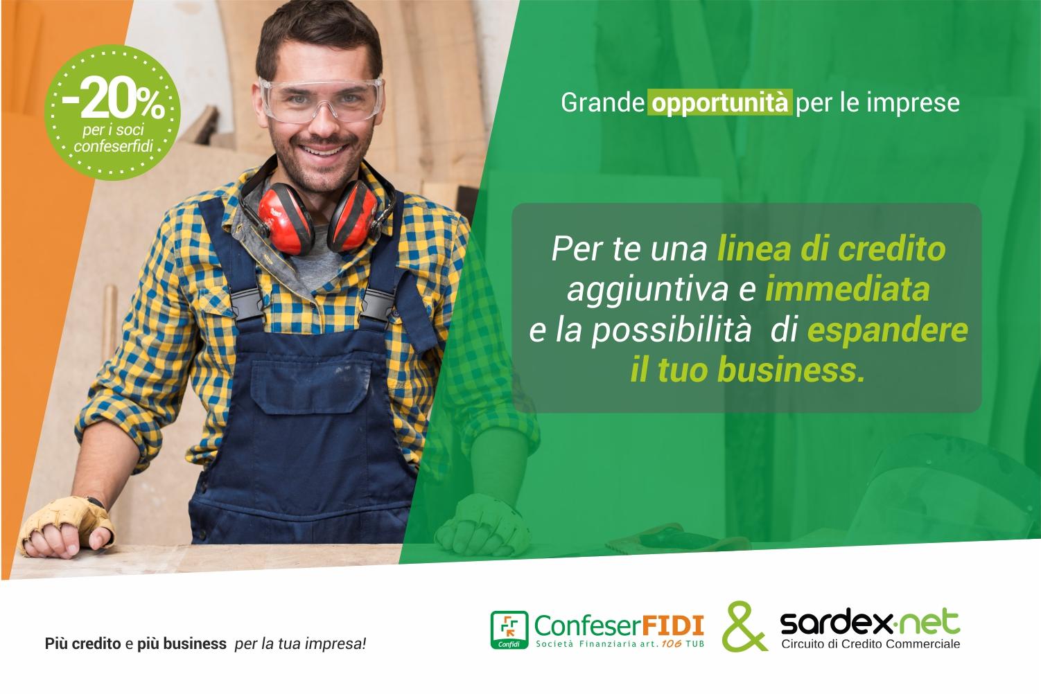 Accordo Confeserfidi-Sardex: per le 20mila imprese aderenti sospensione rate, liquidità immediata e finanziamenti a tasso zero