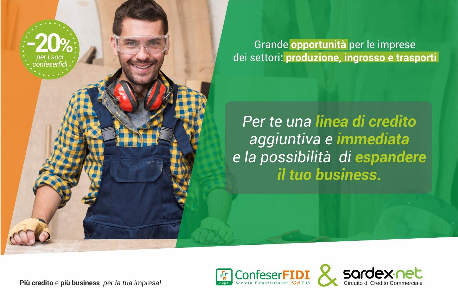 Confeserfidi e Sardex, insieme per le imprese:  più credito, più servizi e più business.