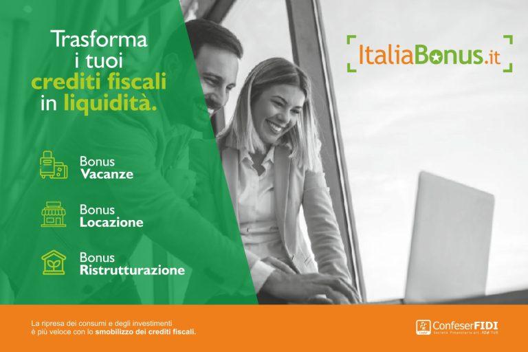 Per Superbonus 110%, Bonus Vacanza e Bonus Affitti online la prima piattaforma per cedere e comprare all'asta i crediti fiscali.